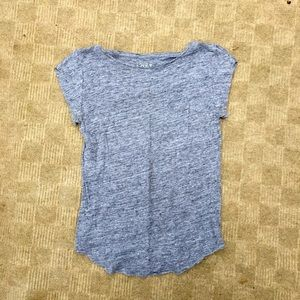 LOFT scoop neck tshirt small grey